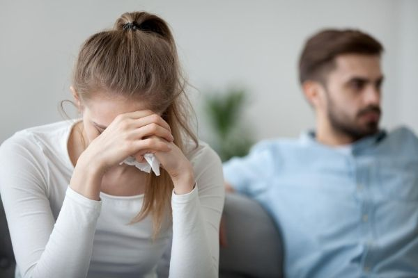 photo of two couple sitting showing relationship struggles