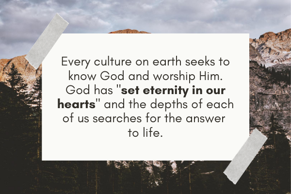 Quotes related to the purpose of life that God has set eternity in our hearts